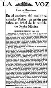 El avión que se estrelló en las Ramblas de Barcelona - La Voz