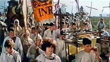 """Escena de la película: """"Gates to Paradise"""" (Las puertas del Paraíso) del director Andrzej Wajda, 1968"""
