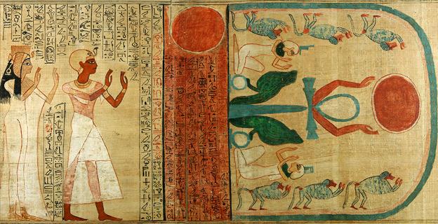 Detalle del libro de los muertos de Nedjmet. 1275 a.C