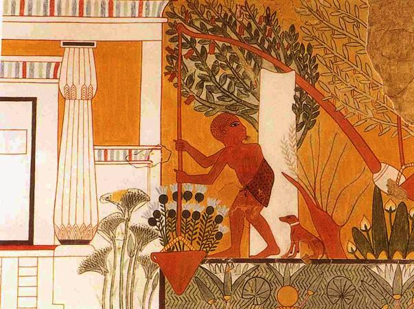 El Shaduf egipcio permitía regar grandes extensiones de terreno